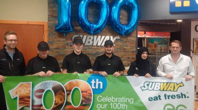 Euro Garages opens 100th Subway