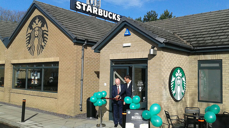 Euro Garages Opens 60th Starbucks
